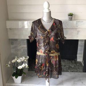 Dresses & Skirts - Sheer Romantic Floral Dress or Tunic -  EUC!